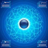 Plansza sieci społecznej ilustracja koncepcja streszczenie tło wektor — Wektor stockowy
