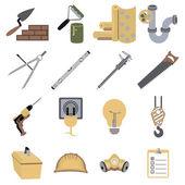 Construction repair tools icons symbols vector illustration — Stock Vector