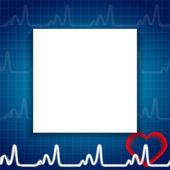 Abstract Heart Pulse Blank Paper Sheet Medical Background Vector Illustration — Vector de stock