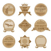 Worn Retro Abstract Signs Sale and Discount Badges Isolated Vector Illustration — Vettoriale Stock