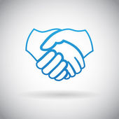 Handshake Cooperation Partnership Icon Symbol Sign Vector Illustration — 图库矢量图片