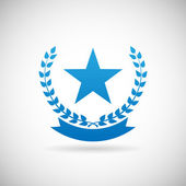 Award Symbol  Troph Icon Design Template Vector Illustration — Stock Vector