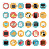 Modern Icons Set Vector Illustration — Stock Vector