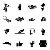 Hands Icons and Symbol Design Template Vector Illustration — Stock Vector