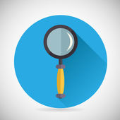 Search Symbol Magnifying Glass Loupe Icon with long shadow on Stylish Background Modern Flat Design Vector Illustration — 图库矢量图片