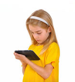 Child and e-book — Stock Photo