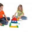 Boy and girl building house together — Stock Photo #21111733