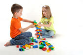 Two children playing — Stock Photo