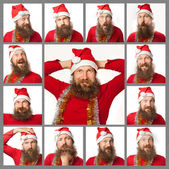 The different and emotional face of santa clause (series) — Stock Photo