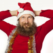 Stock Photo: Santa Claus - relaxing (series)