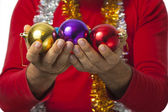 Santa Claus - Christmas Ball (series) — Stock Photo