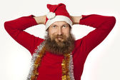 Santa Claus - relaxing (series) — Stockfoto