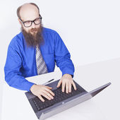 Working and typing - Businessman (Series) — Stock Photo