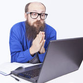 Pleading and Praying - Businessman (Series) — Stock Photo
