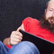 Stock Photo: Mon sofis reading - (Series)