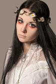 Anime girl retro style - (Series) — Stock Photo