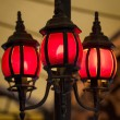 Three Red Lanterns — Stock Photo