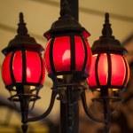 Three Red Lanterns — Stock Photo