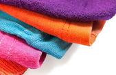 Textile Edges different colors — 图库照片