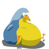 Tlustý pták — Stock fotografie