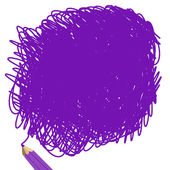 Purple pencil — Stock Photo