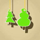 Cartoon illustration of hanging trees — Stock Photo