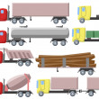 Illustration of set of different trucks — Stock Photo