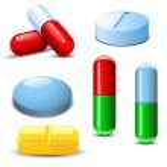 Set of differenet types of pills — Stock Vector