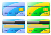 Illustration of two credit cards — 图库矢量图片