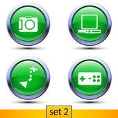 Second set of four realistic icons — Stock Vector