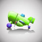 Green plane — 图库矢量图片