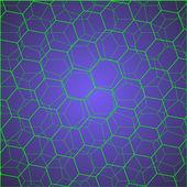 Green hexagon cells — Stock Vector