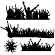 Stock Vector: Dancing crowds
