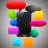 Smart phone labels — Stock Vector