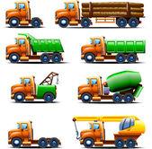 Truck set 2 — Stock Vector