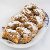 Homemade cookies on a plate — Foto de Stock