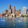 Boston Skyline on a Gorgeous Day — Stock Photo