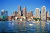 Boston Skyline on a Gorgeous Day — Stock Photo