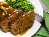 Meatloaf meal — Stock Photo