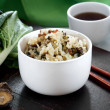 Stock Photo: Shanghai Bok Choy rice