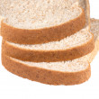 Stacked whole wheat bread slices — Stock Photo