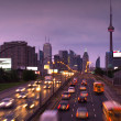 Toronto skyline at rush hour — Stock Photo