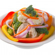 Stock Photo: Bowl of vegetable salad