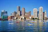 Boston Skyline on a Sunny Day — Stock Photo