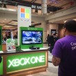 Stock Photo: Microsoft booth