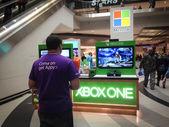 Microsoft booth — Stock Photo