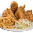 Stock Photo: Fried chicken meal