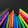 Stock Photo: Close-up of colour pens
