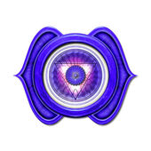 Third Eye Chakra Mandala — Stock Photo