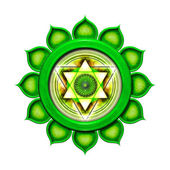 Heart Chakra Mandala — Stock Photo